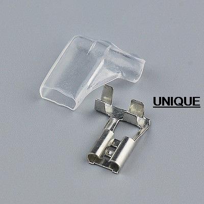 500X 6.3mm Female Right Angle Spade Brass Terminal Connector+ Insulate Case сумка kate spade new york wkru2816 kate spade hanna