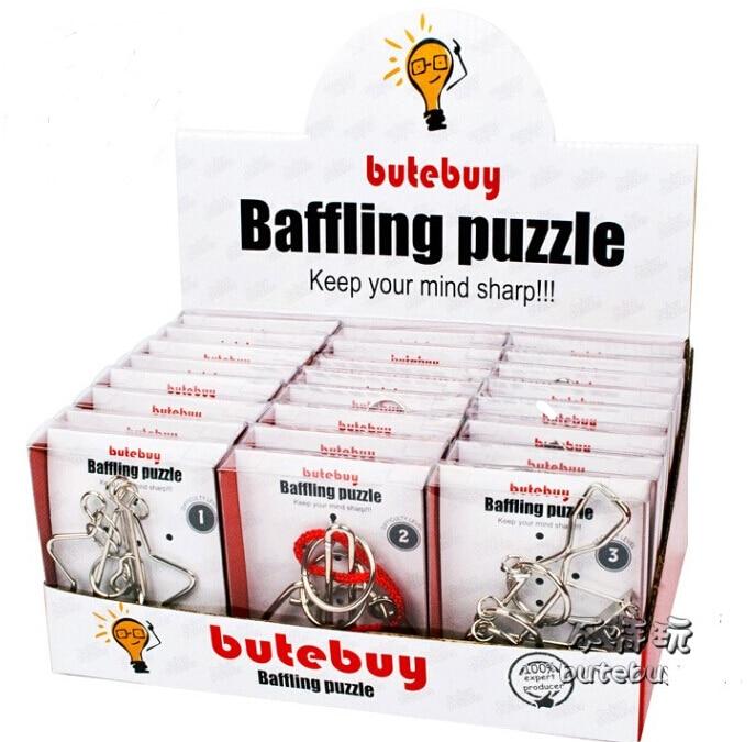 Jeu de casse-tête de Puzzle en fil métallique IQ 24 pièces/ensemble pour adultes enfants