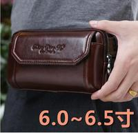 for Huawei Mate 20 Pro Lit/Mate 20 X Men Fashion Mobile Phone Bag Genuine Leather Waist Belt Bags 2019 Hot Sale for Galaxy S10