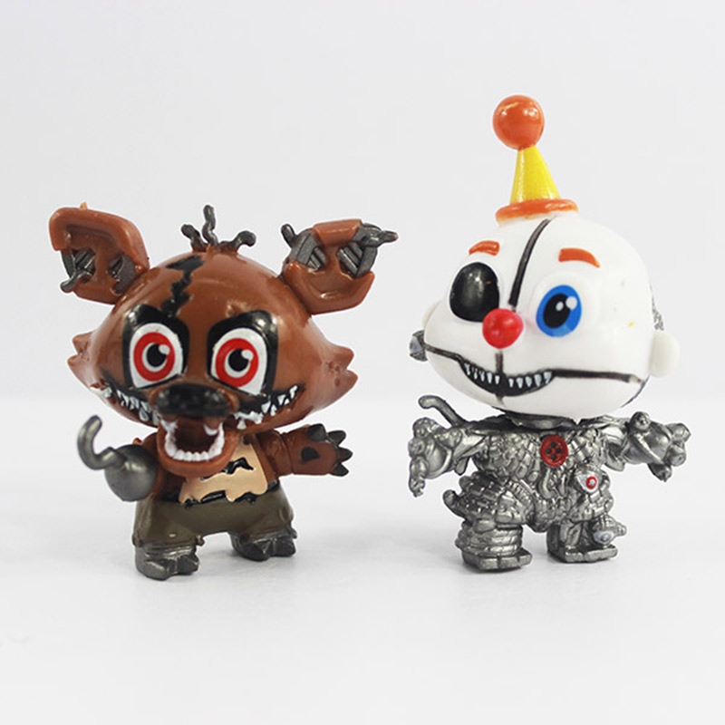 New 8pcs/set 5cm Anime Five Nights At Freddys Vinyl Doll Nendoroid Mini Figures Toys for Kids Collectible Model Gifts In Opp Bag 2