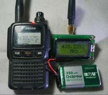 Medidor de frecuencia de alta precisión de 1MHz a 500MHz, pantalla lcd digital de 0802, antena para amplificador de Radio Ham