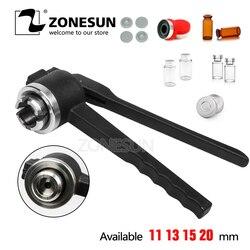 ZONESUN 11mm Stainless Steel Manual Vial Crimper Flip Off Caps Hand crimper, Crimper seals