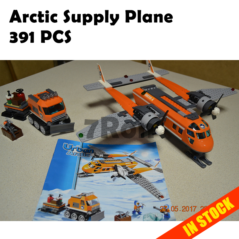 10441 Arctic Supply Plane 391 pcs Model building kits compatible with lego blocks city 3D Educational toys hobbies for children стоимость
