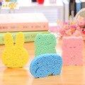7x10 cm Bsby Bunchems Algodão Banho de Esponja de Banho para Crianças Dos Desenhos Animados Suave Bonito Qualidade Infantil Banho de Maquiagem Infantil escova B005