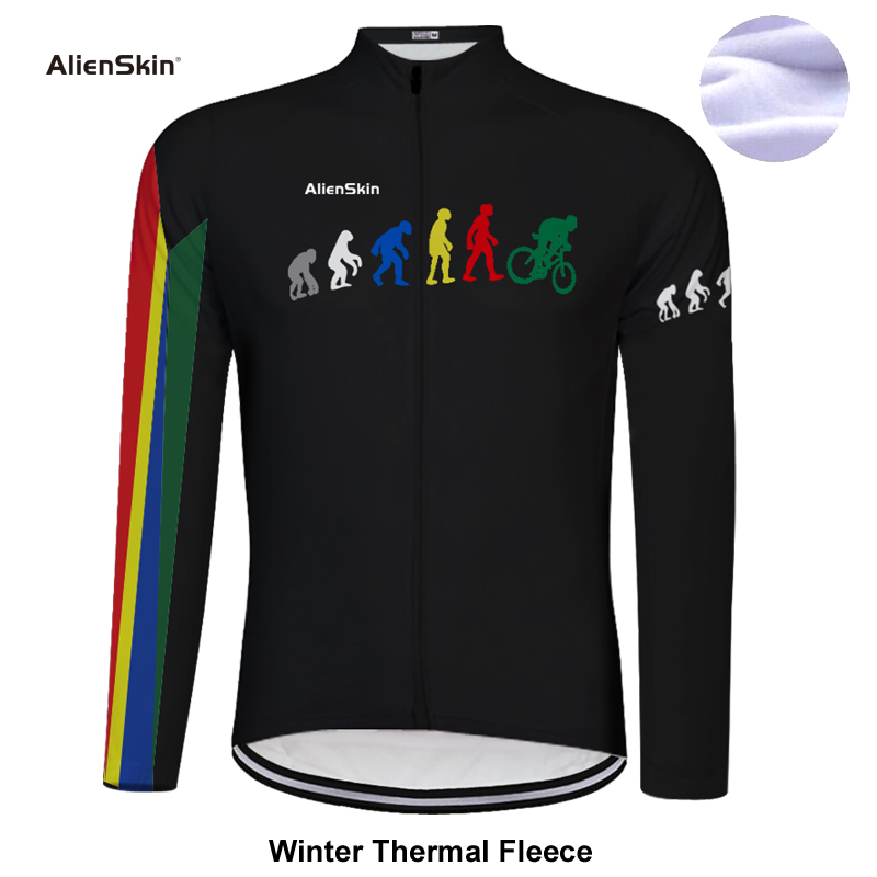 2019 New Long Sleeve Winter Thermal Fleece Bicycle alienskin Cycling Jersey Super Warm Winter Moutain Bike Cycling Clothing 6575 in Cycling Jerseys from Sports Entertainment