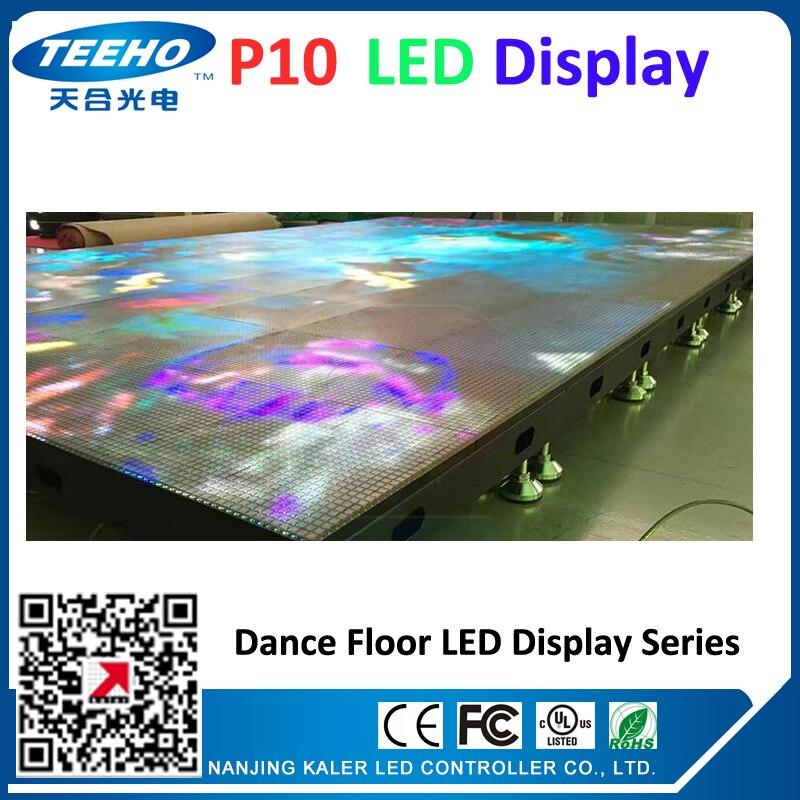 HOT SALE dancing custom made P10 led dance floor LED display screen led videowall large video screens led advertising boards