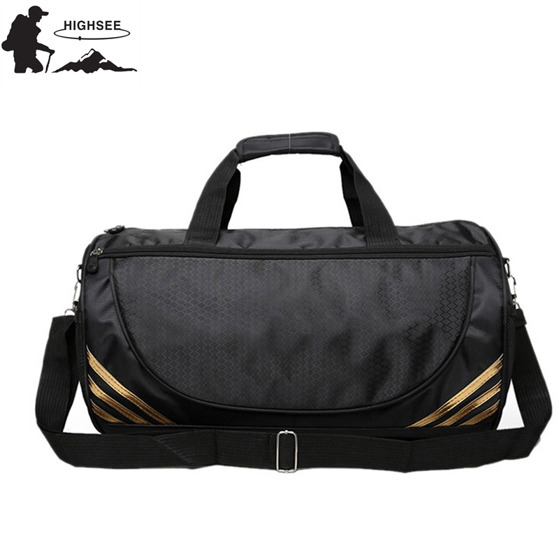 HIGHSEE Travel Sport Bag For Fitness Women Sac De Sport Waterproof Gym Yoga  bags Men Outdoor Training Shoulder Crossbody Handbag a8727399beecd