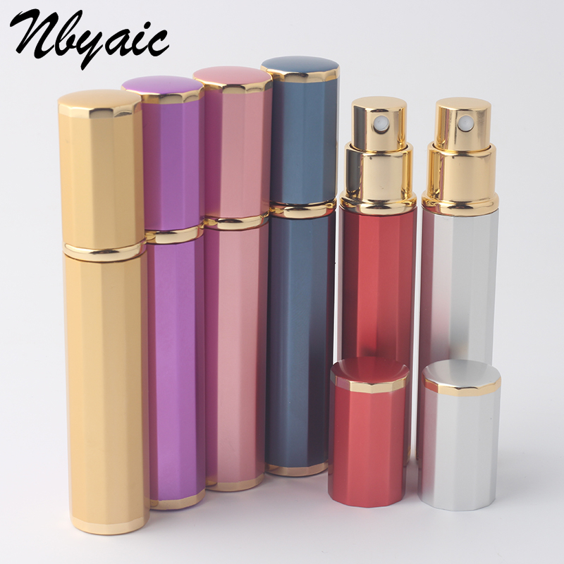 Nbyaic 1Pcs 8ml Phnom Penh Aluminum Perfume Bottle Spray Bottle Red Tube Large Capacity Empty Bottle Sub-Bottle Lipstick Shape