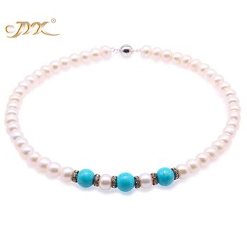 67d5c1505d8e JYX 2019 nueva Ronda perla collar largo AAA + 9-10mm natural blanco agua  dulce perlas cultivadas suéter de las mujeres collar  50