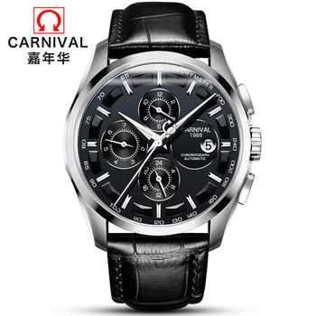 Multifunction Automatic Watch Men Luxury brand CARNIVAL Mechanical Watches Calendar Week 24hour Luminous Waterproof Montre homme - DISCOUNT ITEM  59% OFF All Category