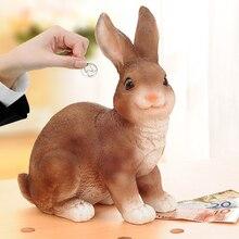 Moneybox Cartoon Piggy Bank Creative Childrens Gift Rabbit Coin Jar Lovely Birthday Present Large Bunny