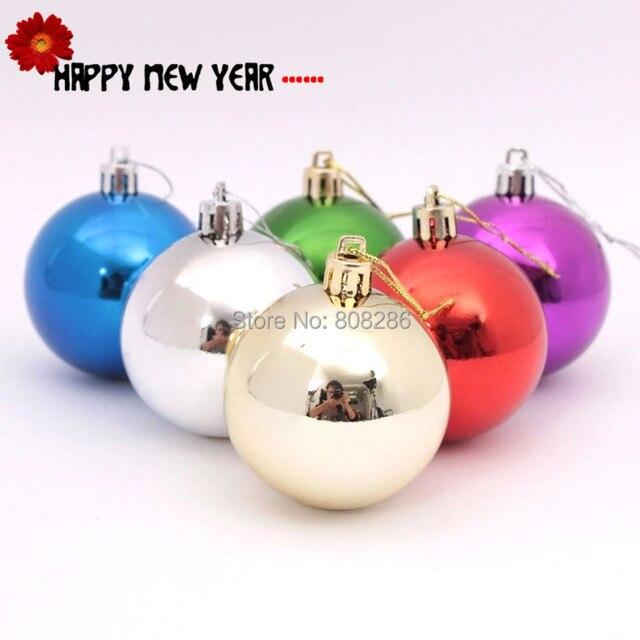 c7f53eae67527 Navidad 6 cm de plástico transparente bolas Navidad decoración colgante  cuelgan adornos de Color 6 cm
