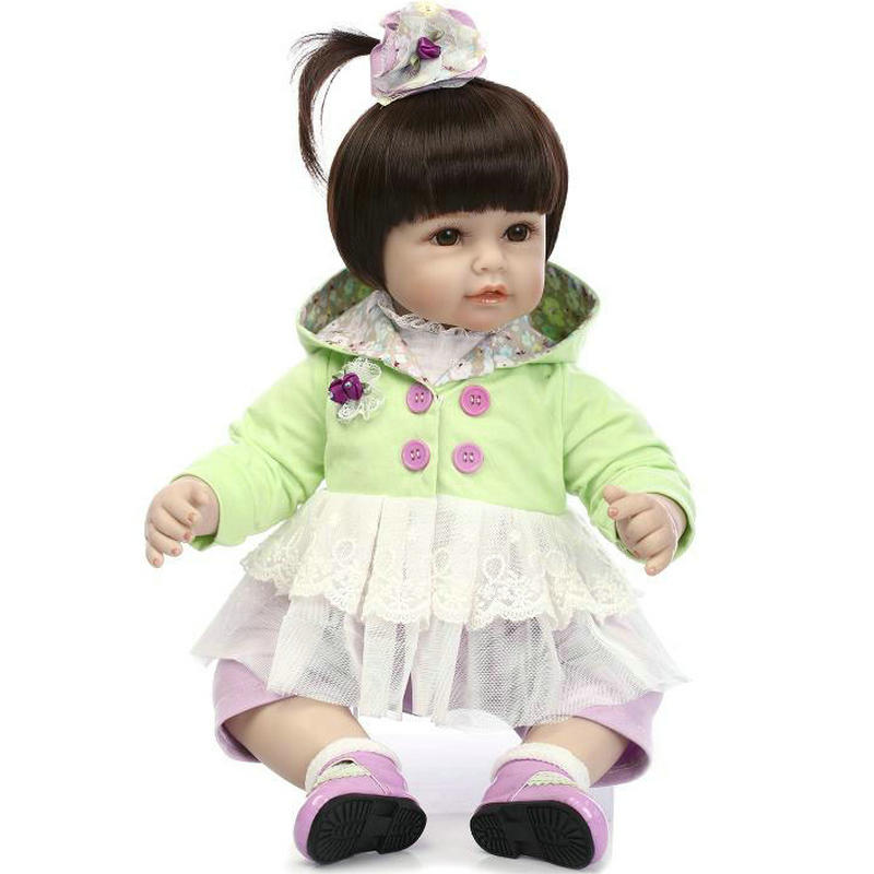NPKCOLECTION new arrival 50cm reborn dolls toddler baby girl silicone limbs and cloth body lifelike cute little princess