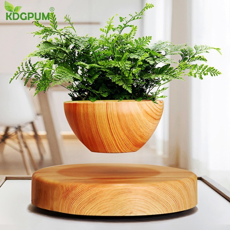 EU/US/AU Plug Levitating Air Bonsai <font><b>Pot</b></font> <font><b>Magnetic</b></font> Levitation Plants Planter <font><b>Flower</b></font> <font><b>Pots</b></font> Potted Succulent Plant Home Office Decor image