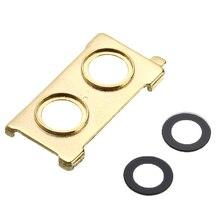 Телефон объектив камеры стеклянная задняя крышка с металлической рамкой держатель запасные части для Xiaomi 6 Mi6 золотой серебряный черный