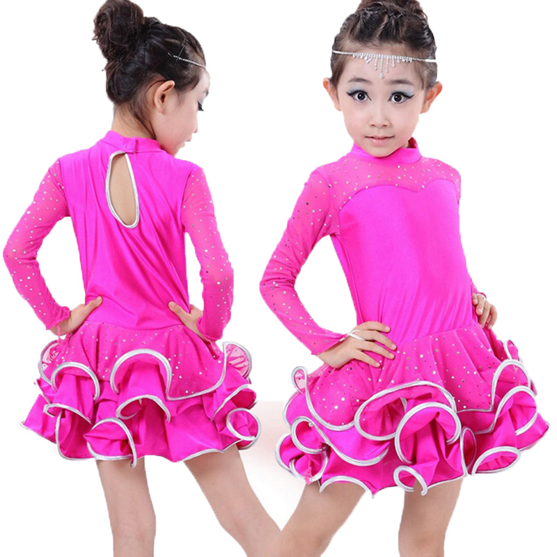 Gymnastic Dress Long Sleeve Lace Sequin Gymnastics Clothing Children Stage Performance Dancing Dress Figure Skating Suit