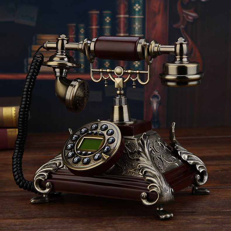 Fashion phone american style antique telephone vintage Blue Backlight Hands Free Caller ID
