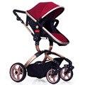 Детские коляски высокого удара пейзаж пневматические колеса малолитражного автомобиля может сесть BB складной корзину