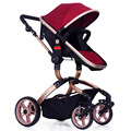 Rueda de neumático de coche de bebé cochecito de bebé choque de alta paisaje puede sentarse BB plegable cesta