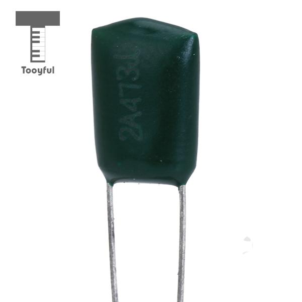 Tooyful High Quality 10Pcs 47000pF 100V 2A473J Green Polyester Film Capacitor Accessory Green Electric Stringed Guitar Wholesale