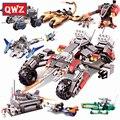 Qwz estrella guerra frontera tierra serie asalto robot coche tanques motocicleta bloques de construcción diy montado ladrillos niños juguetes regalos