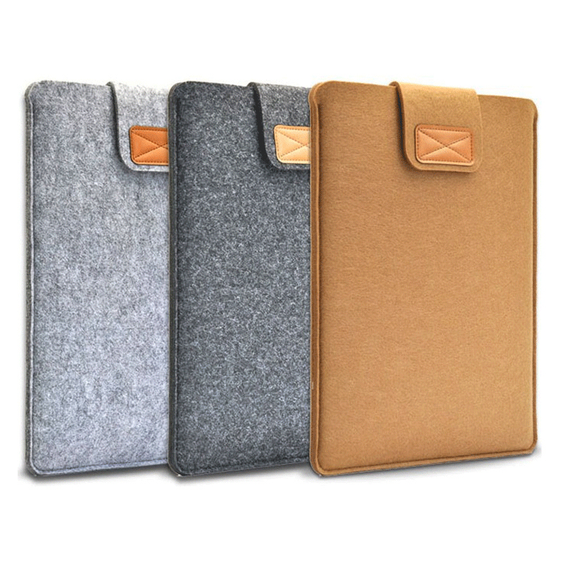 Wool Felt <font><b>Laptop</b></font> Sleeve Case Notebook <font><b>Bag</b></font> Tablet Pouch 7 8 10 11 12 13 14 15.6 <font><b>17.3</b></font> for Macbook Air Pro Xiaomi for kindle iPad image