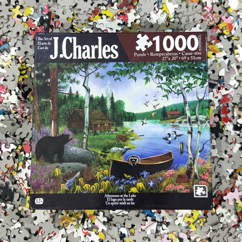 j charles 1000 pieces jigsaw 27 x 20 animal landscape frame paper puzzle toys for kids young. Black Bedroom Furniture Sets. Home Design Ideas