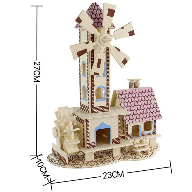 2017 miniature dollhouse furniture 3D Doll House Wooden Miniature Furniture Kit Toys for children Gift Time travel doll houses