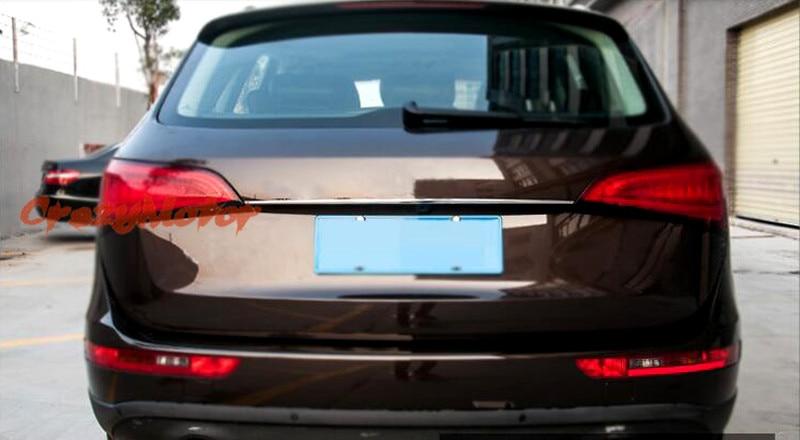 For Audi Q5 2008 09 10 11 12 2013 2014 2015 Stainless steel rear trunk streamer trim 1pcs