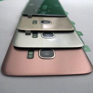 Image 4 - Original Zurück Glas Für Samsung Galaxy S7 G930 G930F S7 Rand G935 Batterie Zurück Abdeckung Tür Gehäuse Ersatz Reparatur Teile