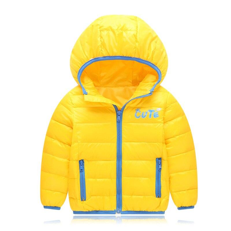 1108 детская одежда тонкие Теплый пуховик осень-зима мальчик и девочка Подпушка куртка короткие пальто с капюшоном