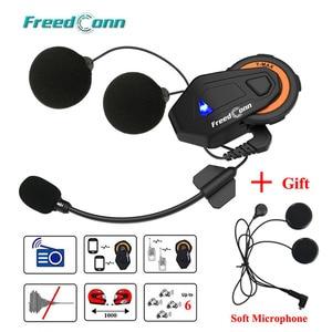 Image 1 - Freedconn T max Motorrad Bluetooth Headset Intercom Helm Bluetooth 4,1 6 Fahrer Gruppe Reden FM Radio + Weiche Hörer