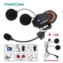 Freedconn T max мотоциклетная bluetooth гарнитура, шлем для домофона, Bluetooth 4,1, 6 всадников, группа говорящих, fm радио + мягкий наушник