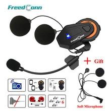 Freedconn t max Casco intercomunicador con Bluetooth para motocicleta, grupo de 6 conductores que habla con Radio FM y auricular suave