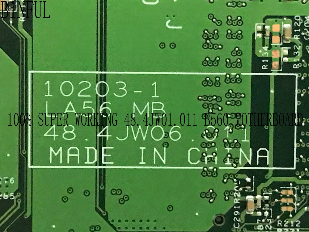 BiNFUL NEW LA56 10203-1 48.4JW06.011 LAPTOP MOTHERBOARD FOR LENOVO B560 NOTEBOOK COMPARE BEFORE ORDER