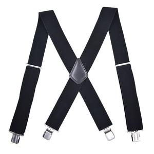 50mm Wide Elastic Adjustable Men Trouser Braces Suspenders X Shape with Strong Metal Clips Ceinture Homme Cinturones Hombre