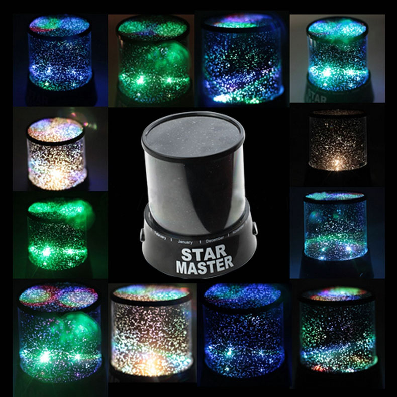 Star Mater Night Light Sky LED Projector Mood Lamp Kids Bedroom WWO66 plywood