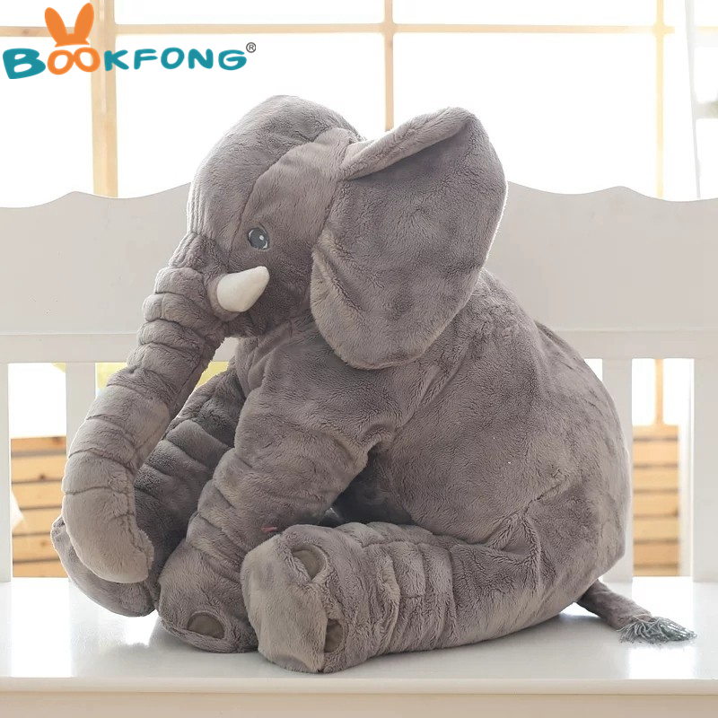 BOOKFONG 1PC 40/60cm Infant Soft Appease Elephant Playmate Calm Doll Baby Appease Toys Elephant Pillow Plush Toys Stuffed Doll 8