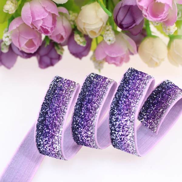 5 8 frosted glitter elastic B 76 for accessaries 150yards roll