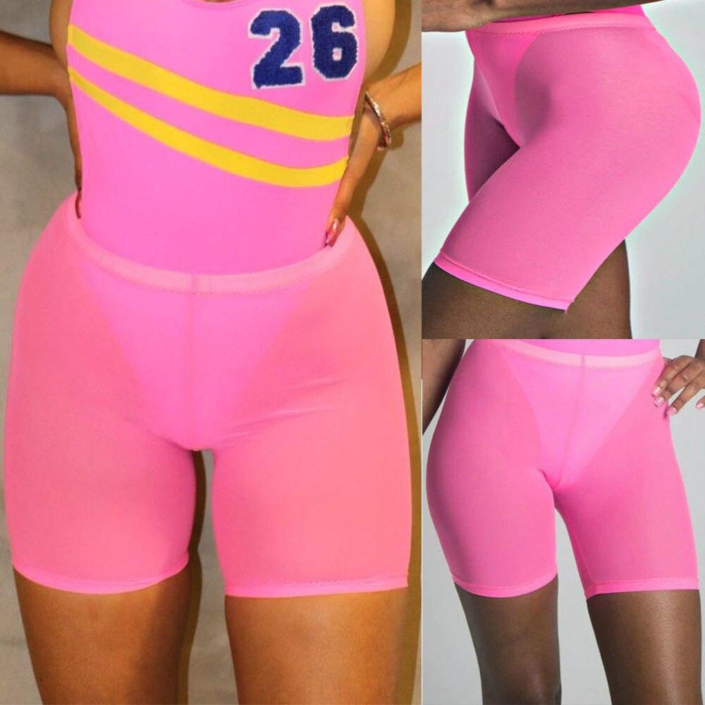 Женские спортивные повседневные пляжные шорты для йоги с высокой талией, шорты для йоги, шорты для волейбола - Цвет: Розовый