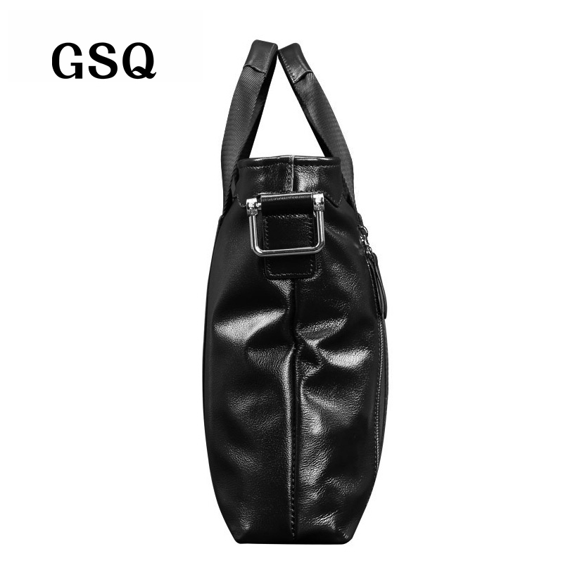 gsq genuíno bolsa de couro Item Design : Gsq Genuine Leather Handbag Men Bag Genuine Leather Briefcase