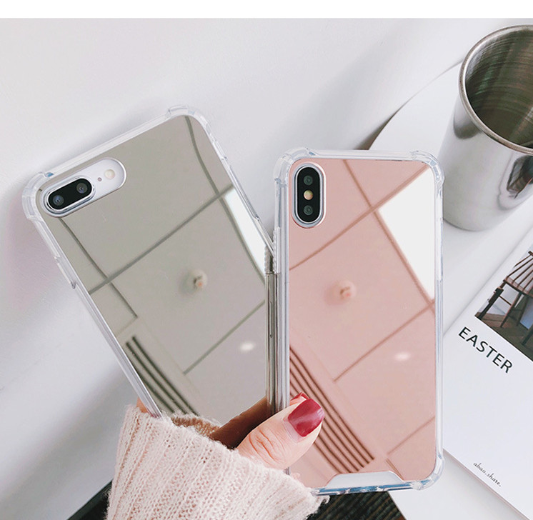 Mirror For Iphone 66S 6P78 8P X Xs Xr Xsmax Anti-Fall Mirror Makeup Mirror Phone Case