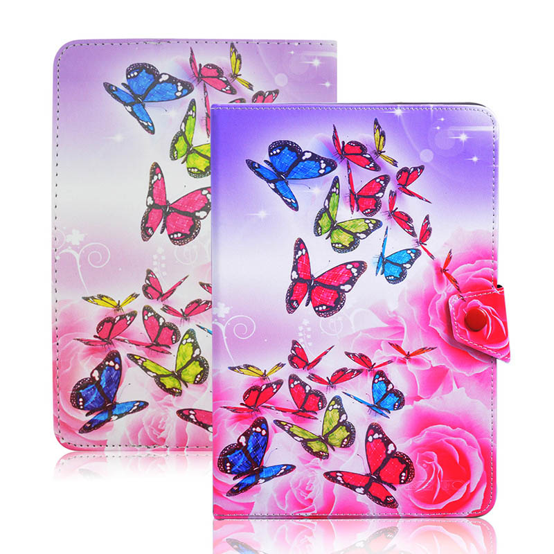 Butterfly pattern PU Leathet Stand Cover Case Universal 7 inch Tablet RUSSIA For TurboPad 723 7.0 Tablet PC PAD for kids S4A92D
