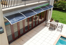 YP100600 100x600cm 39x236in polycarbonate awnings ,sun awning entrance door canopy