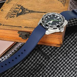 Image 3 - MAIKES Sport Watch Strap Watch Accessories Fluoro Rubber Watch Band 20mm 22mm 24mm Watchband Bracelet For Seiko Citizen MIDO