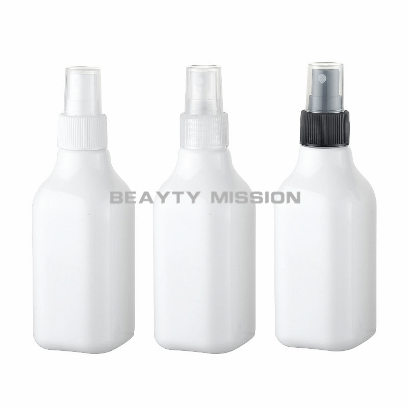BEAUTY MISSION <font><b>200ml</b></font> X 24 makeup <font><b>spray</b></font> white square <font><b>bottle</b></font> pump, 200cc empty cosmetic packaging containers ,perfume <font><b>spray</b></font> <font><b>bottle</b></font> image