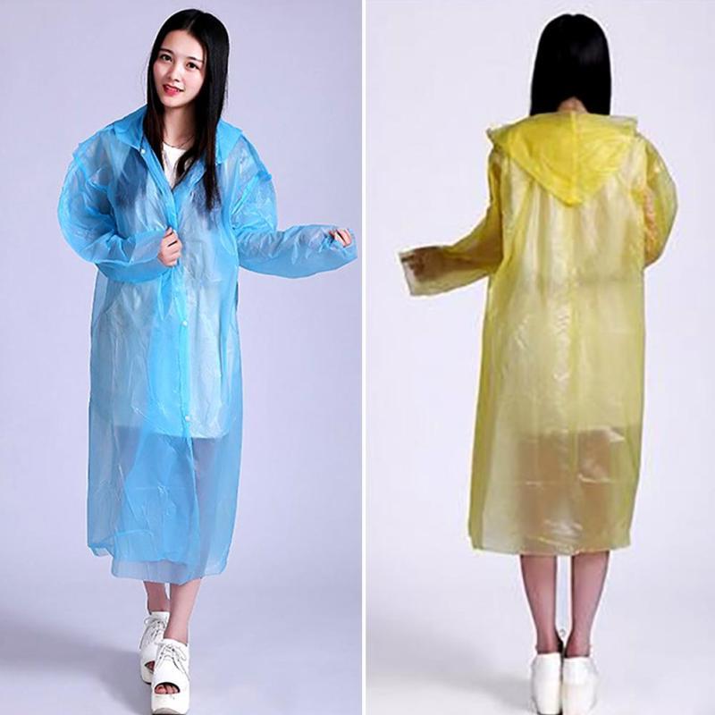 Raincoats 5 X Unisex Poncho Disposable Emergency Raincoat Outdoor Waterproof Free Shipping