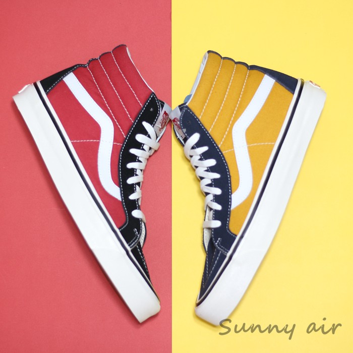 VANS K8 HI Anaheim blue yellow high Black red high men and women shoes  lovers shoes VN0A38GFUBT Weight lifting shoes size 36 44-in Weightlifting  Shoes from ... c020493f3