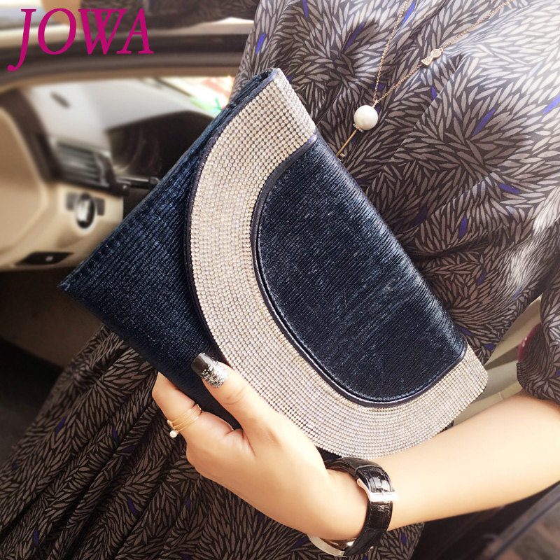 2017 New Design Women's Fashion Day Clutch Casual Envelope Bag Handbag Diamonds Package Night Party Purse Chains Pocket 2 Colors 2017 120cm diy metal purse chain strap handle bag accessories shoulder crossbody bag handbag replacement fashion long chains new