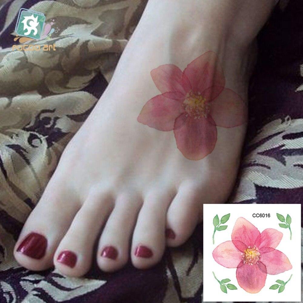 ᓂcc6016 Peu Moins Cher Couleur Fleur Pivoine Designer Temporaire